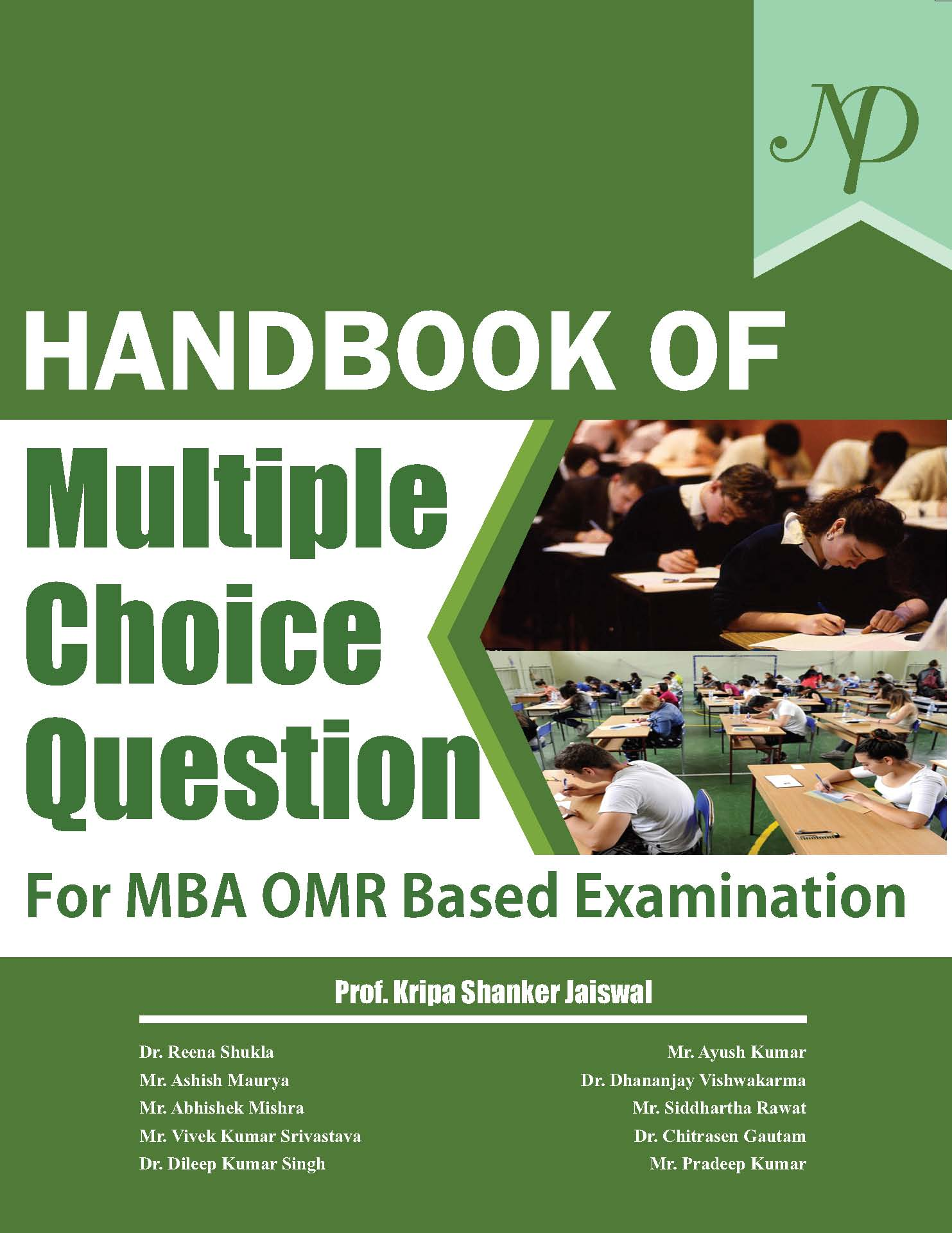 Handbook of Multiple Choice Question for MBA OMR Based Examination